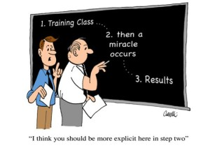 It is often a mystery in organizations as to how to make training work